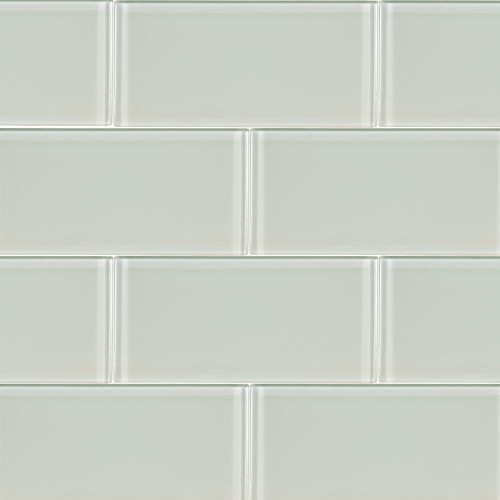MS International Backsplash Series: Arctic Ice 3x6 Glass Subway Tile SMOT-GL-T-AI36