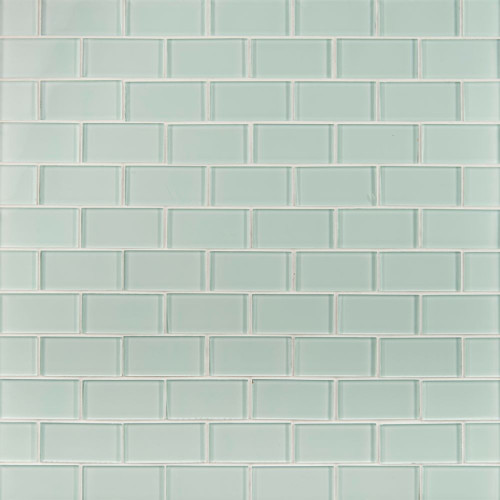 MS International Backsplash Series: Arctic Ice 2x4 Glass Subway Tile SMOT-GLSST-AI8MM