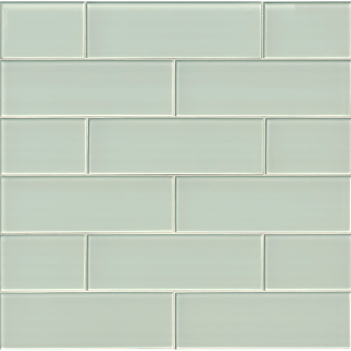 MS International Backsplash Series: Arctic Ice 4x12 Glossy Subway Tile SMOT-GL-T-AI412