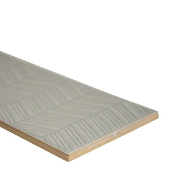 MS International Backsplash Series: Urbano Dusk 3D 4x12 Glossy Ceramic Subway Tile NURBDUSMIX4X12