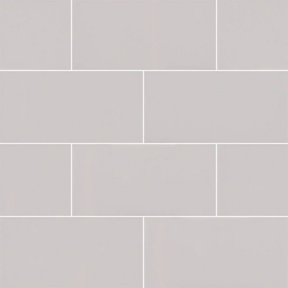 MS International Backsplash Series: Domino Gray 3X6 Glossy Subway Tile NGRAGLO3X6