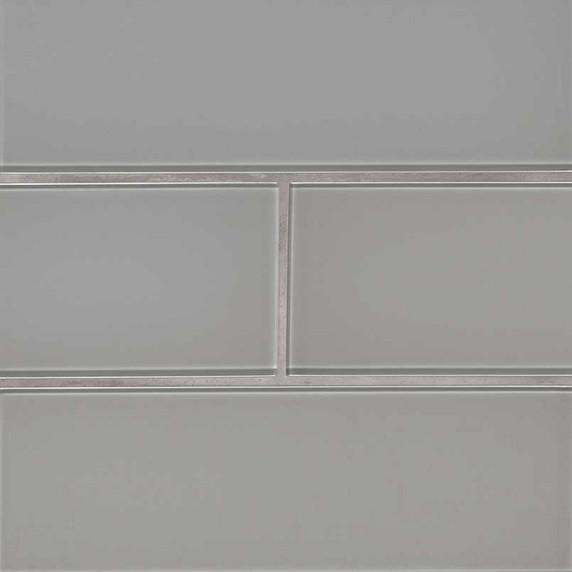 MS International Backsplash Series: Oyster Gray 4x12 Glass Subway Wall Tile SMOT-GL-T-OYGR412
