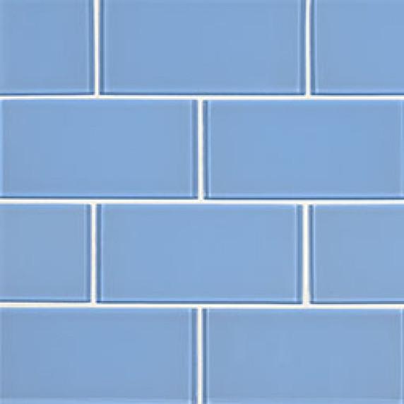 MS International Backsplash Series: Royal Azure Glossy 3X6 Glass Subway Tile SMOT-GL-T-ROYAZU36