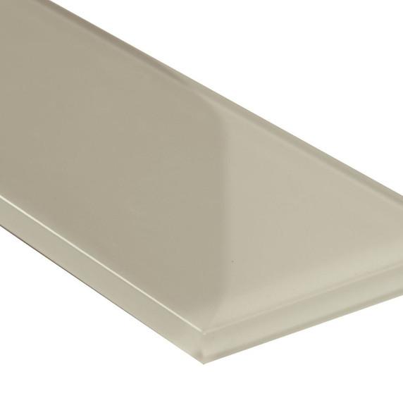 MS International Backsplash Series: Snowcap White 3x9 Backsplash Glass Subway Tile SMOT-GL-T-SNWHT39