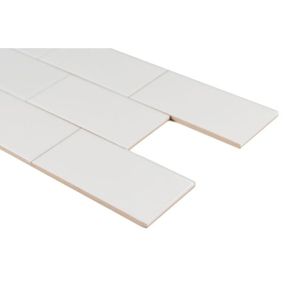 MS International Backsplash Series: Domino White Glossy 3X6 Subway Tile NWHIGLO3X6