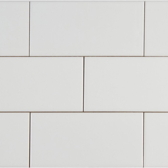 MS International Backsplash Series: Domino White 4X16 Glossy Subway Tile NWHIGLO4X16