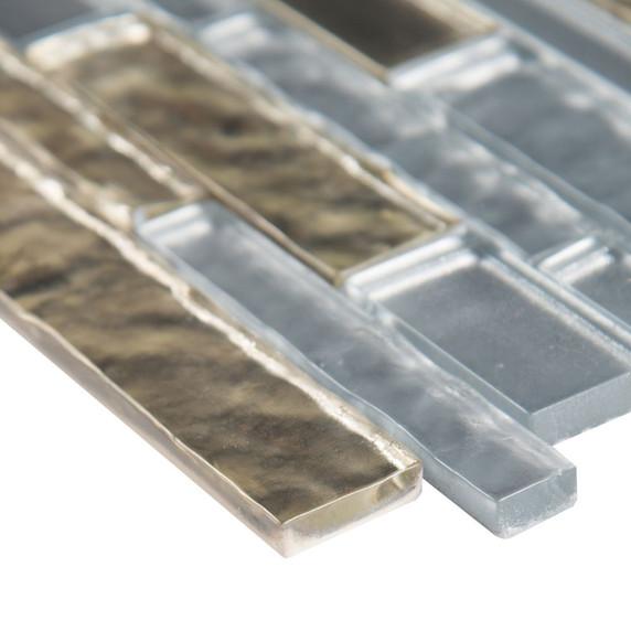 MS International Glass Tile Series: Adara Interlocking Pattern 8mm Glass Tile SMOT-GLSIL-ADARA8MM
