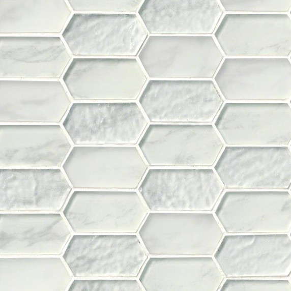 MS International Glass Tile Series: Calypso Picket Pattern Inkjet Glass Mosaic Tile SMOT-GLSPK-CALYP8MM