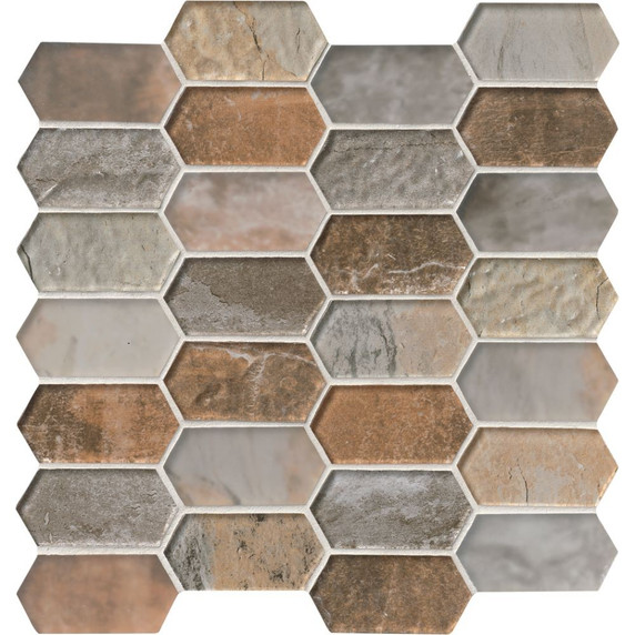 MS International Glass Tile Series: Taos Picket Pattern Inkjet Glass Mosaic Tile SMOT-GLSPK-TAOS8MM