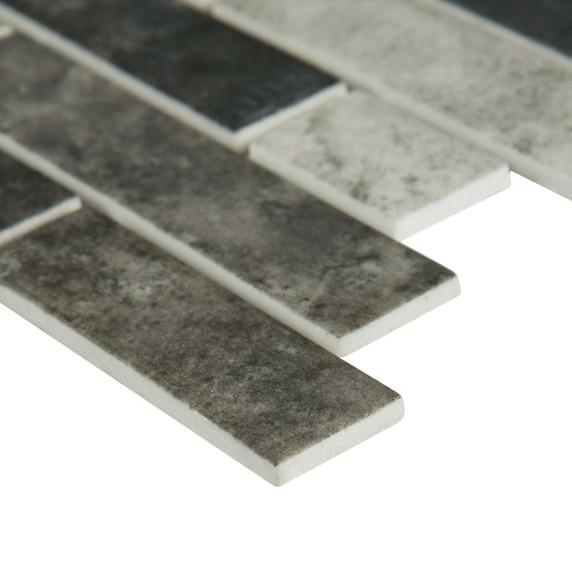 MS International Glass Tile Series: Urban Tapestry Interlocking Pattern Recycled Glass Mosaic Tile SMOT-GLSIL-UT6MM