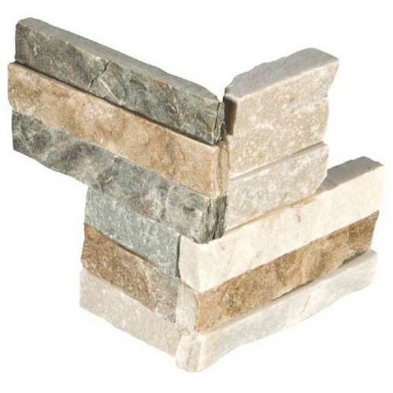 MS International Stacked Stone M-Series: Golden Honey 4.5x9 Split Face Mini Corner Ledger Panel LPNLQGLDHON4.59COR-MINI