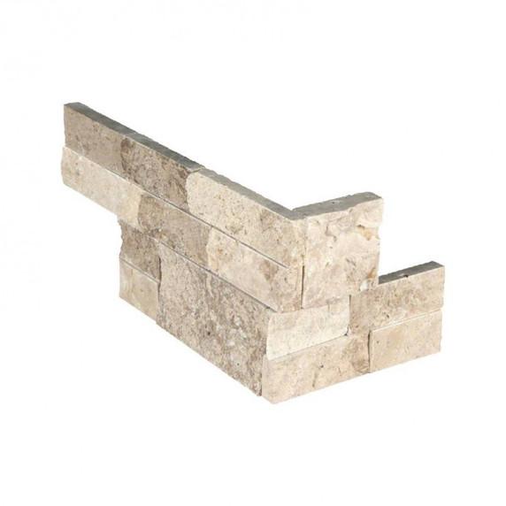 MS International Stacked Stone M-Series: Roman Beige 4.5x9 Split Face Mini Corner Ledger Panel LPNLTROMBEI4.59COR-MINI
