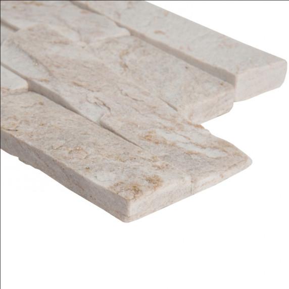 MS International Stacked Stone Series: Royal White 6X12X6 Split Face Corner Ledger Panel LPNLQROYWHI618COR