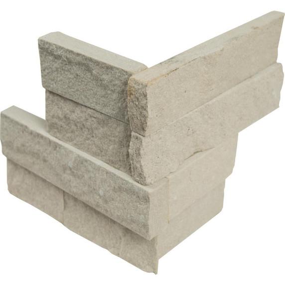 MS International Stacked Stone Series: Sedona Beige 6X6 Split Face Corner Ledger Panel LPNLDSEDBEI66COR