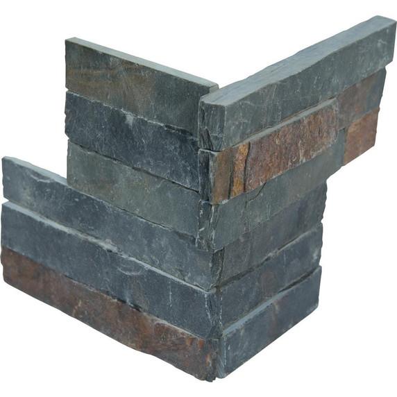 MS International Stacked Stone Series: Sedona Multi 6X6 Split Face Corner Ledger Panel LPNLSSEDMLT66COR