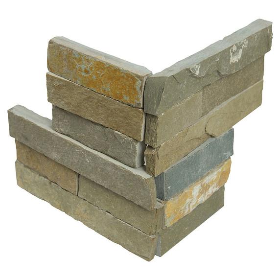 MS International Stacked Stone Series: Sedona Vanilla 6X6 Split Face Corner Ledger Panel LPNLLSEDVAN66COR