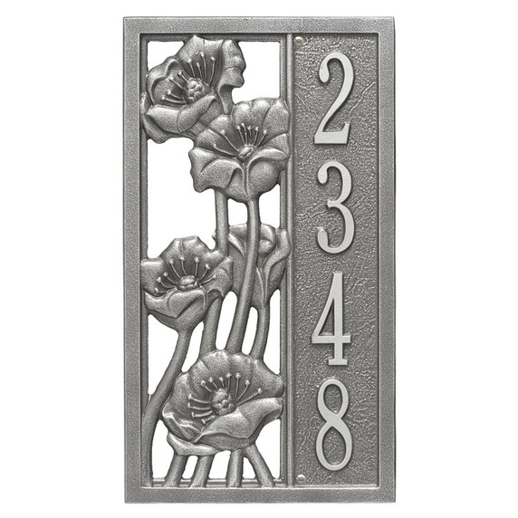 Whitehall Personalized Flowering Poppies Vertical Wall Plaque