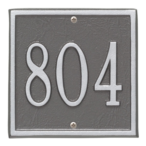 Whitehall Personalized Square Plaque -Petite – wall- 1-line