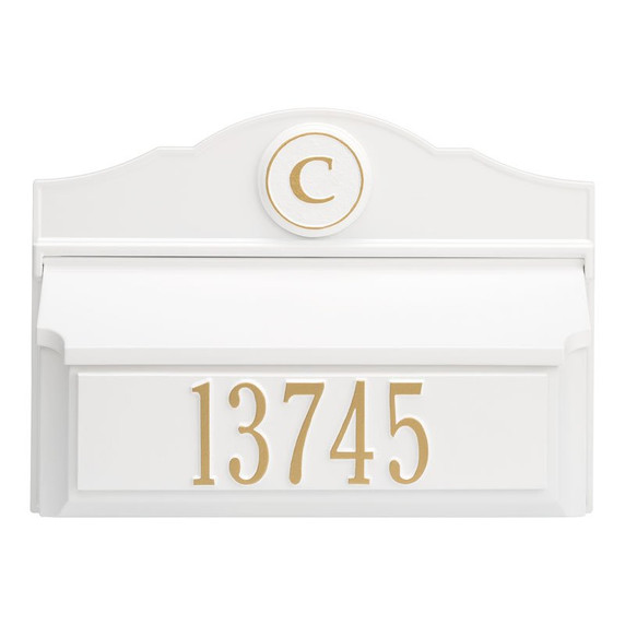 Whitehall Colonial Wall Mailbox Package #1 (Mailbox, Plaque & Monogram)