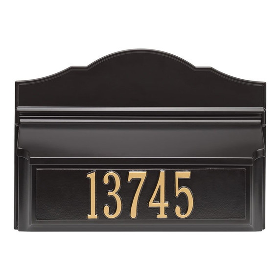 Whitehall Colonial Wall Mailbox Package #2 (Mailbox & Plaque)