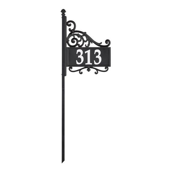 Whitehall Nite Bright Acanthus Reflective Address Post Sign