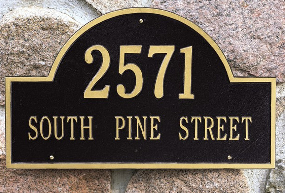 Arch Address Wall Plaques