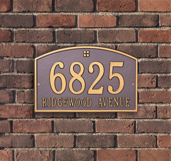 Cape Charles Standard Wall Two Line Address Plaque