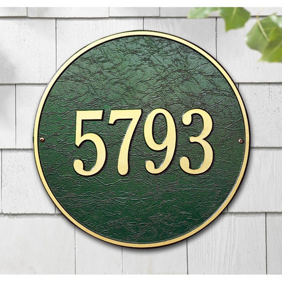 Round 6 Inch One Line Petite Wall Plaque