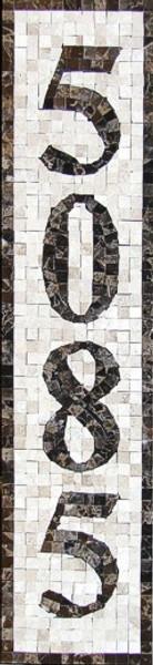 Mosaic House Numbers / Monaco – V1P
