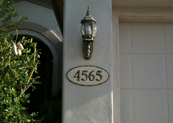 The custom house numbers I ordered really are a work of art. Posted by D. Allen, Gilbert, AZ on 21st Aug 2012
