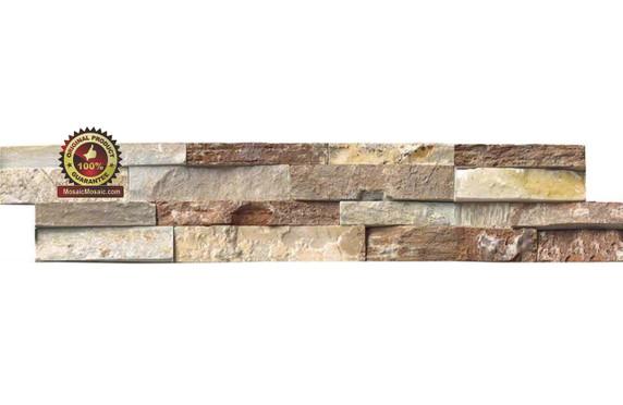 """MS International Golden White Ledger Panel 6"""" x 24"""" Natural Slate Wall Tile"""