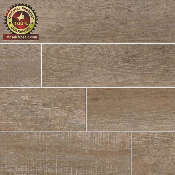 """Capella Stable 6"""" x 40"""" Wood Look Italian Made Porcelain Tile"""