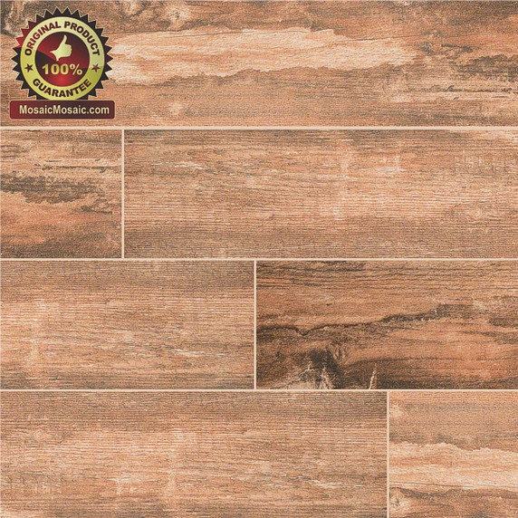 Salvage Red 6 x 40 Wood Look Porcelain Tile
