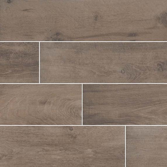 MS International Cottage Series: Brown 8x48 Matte Wood Look Porcelain Tile NCOTBRO8X48