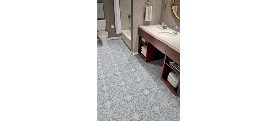 MS International Kenzzi Series: 8x8 Blume Glazed Porcelain Tile NHDBLU8X8