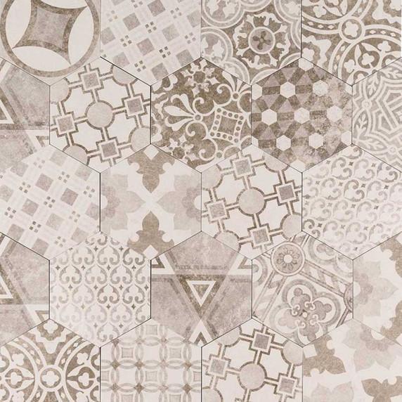 MS International Kenzzi Series: Mixana 7X8 Hexagon Matte Mosaic NMIX7X8HEX