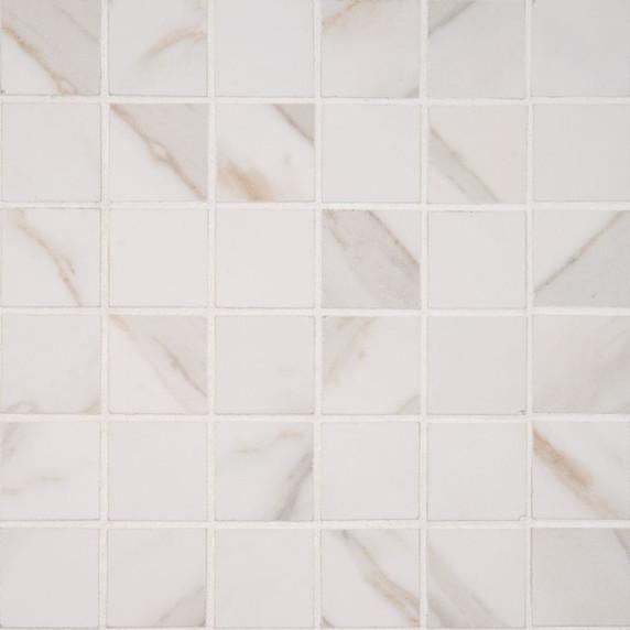 MS International Pietra Series: Calcatta 2X2 Polished Mosaic NPIECAL2X2P