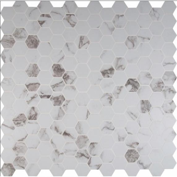 MS International  Statuario Series: 2X2 Hexagon Matte Mosaic NSTA2X2HEX