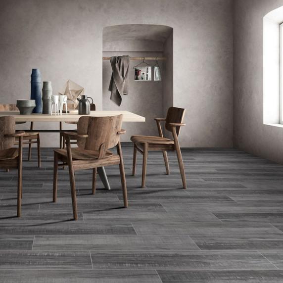 MS International Belmond Series: Mercury 8X40 Grey Matte Ceramic Tile NBELMER8X40