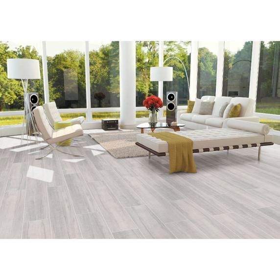 MS International Belmond Series: Pearl 8X40 Grey Matte Ceramic Tile NBELPEA8X40