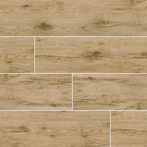 MS International Celeste Series: Taupe 8X40 Black Matte Wood Look Ceramic Tile NCELTAU8X40