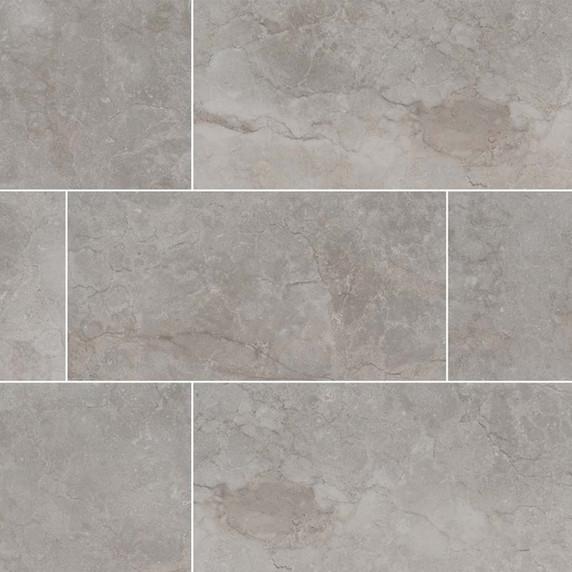MS International Essentials Series: Ansello Grey 12X24 Matte Ceramic Tile NANSGRE1224