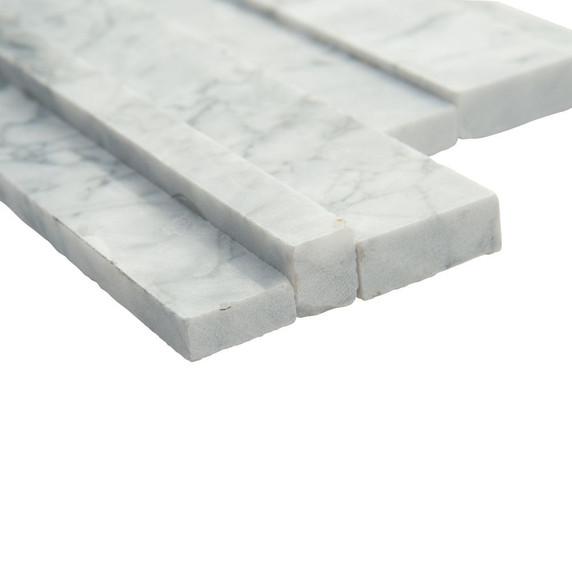 MS International Stacked Stone Series: Statuarietto Capri 6x24 3D Honed Ledger Panel LPNLMSTACAP624-3DH