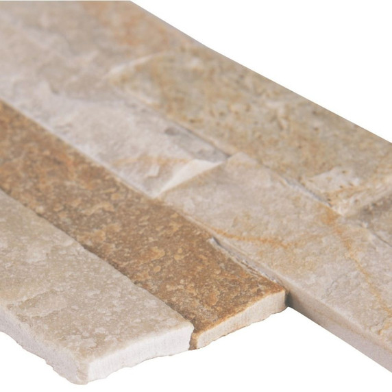 MS International Stacked Stone M-Series: Golden Honey 4.5x16 Split Face Mini Ledger Panel LPNLQGLDHON4.516-MINI