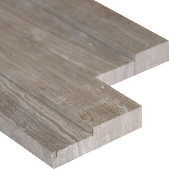 MS International Stacked Stone M-Series: Gray Oak 4.5x16 3D Honed Mini Ledger Panel LPNLMGRYOAK4.516-3DH-MINI