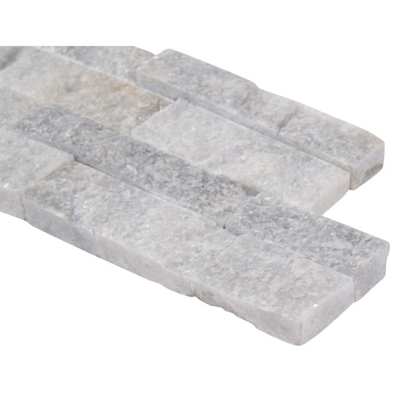 MS International Stacked Stone M-Series: Sky Gray 4.5x16 Split Face Mini Ledger Panel LPNLQSKYGRY4.516-MINI