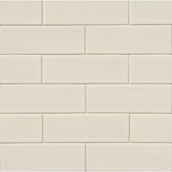 MS International Backsplash Series: Antique White 4x12 Handcrafted Glossy Subway Tile SMOT-PT-AW412