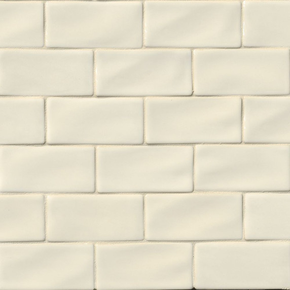 MS International Backsplash Series: Antique White 3x6 Handcrafted Glossy Subway Tile MOT-PT-AW36