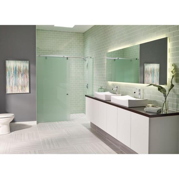 MS International Backsplash Series: Arctic Ice 3x6 Glass Subway Tile SMOT-GL-T-AI36