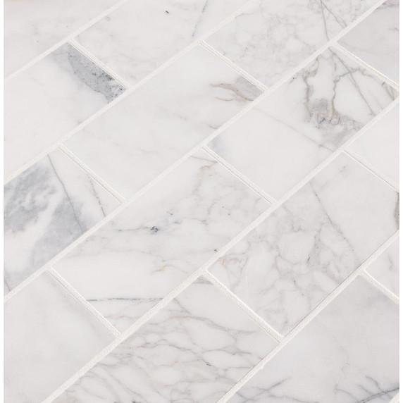 MS International Backsplash Series: 3x6 Calacatta Cressa Subway Tile TCALCRE36H